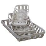 White Washed Tobacco Baskets (Multiple Sizes)