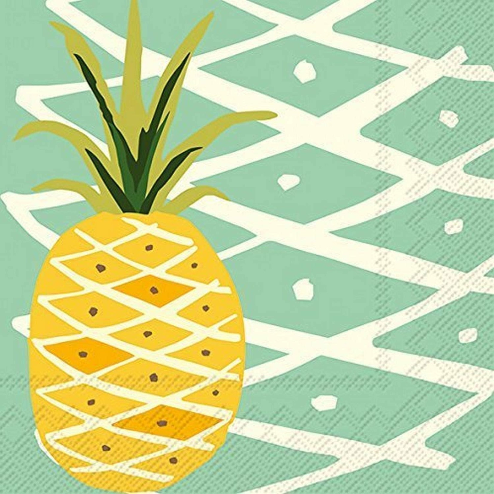 Paper Napkins Tropical Pineapple Luncheon