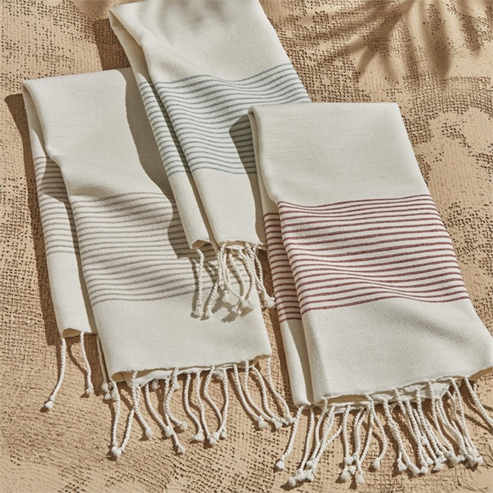 Cottage Stripe Hand Towel (Multiple Colours)