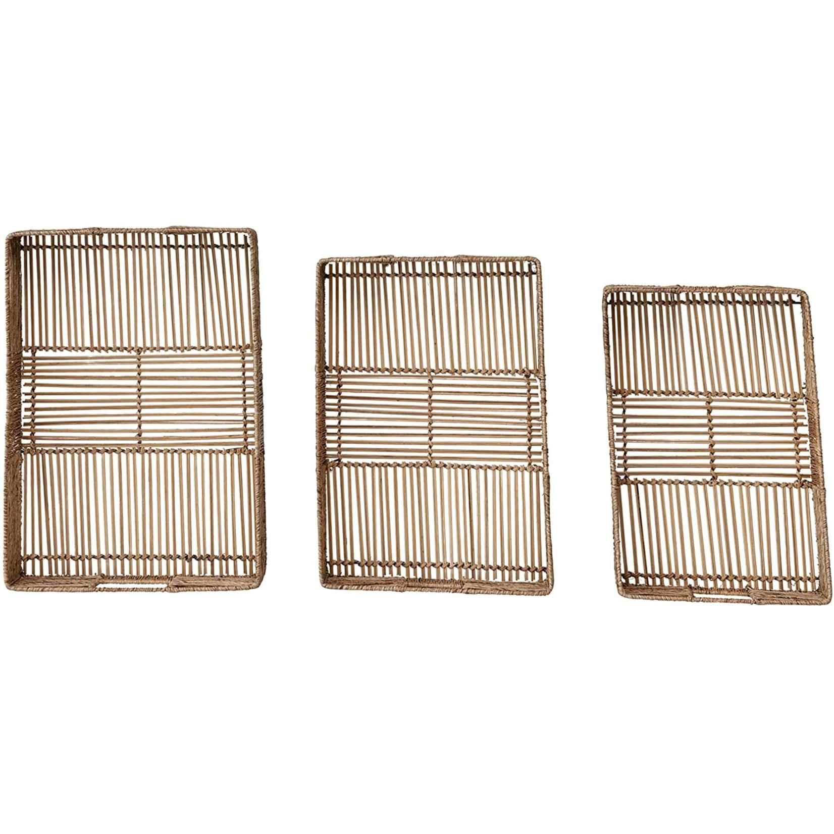 Bamboo & Jute Tray (Multiple Sizes)