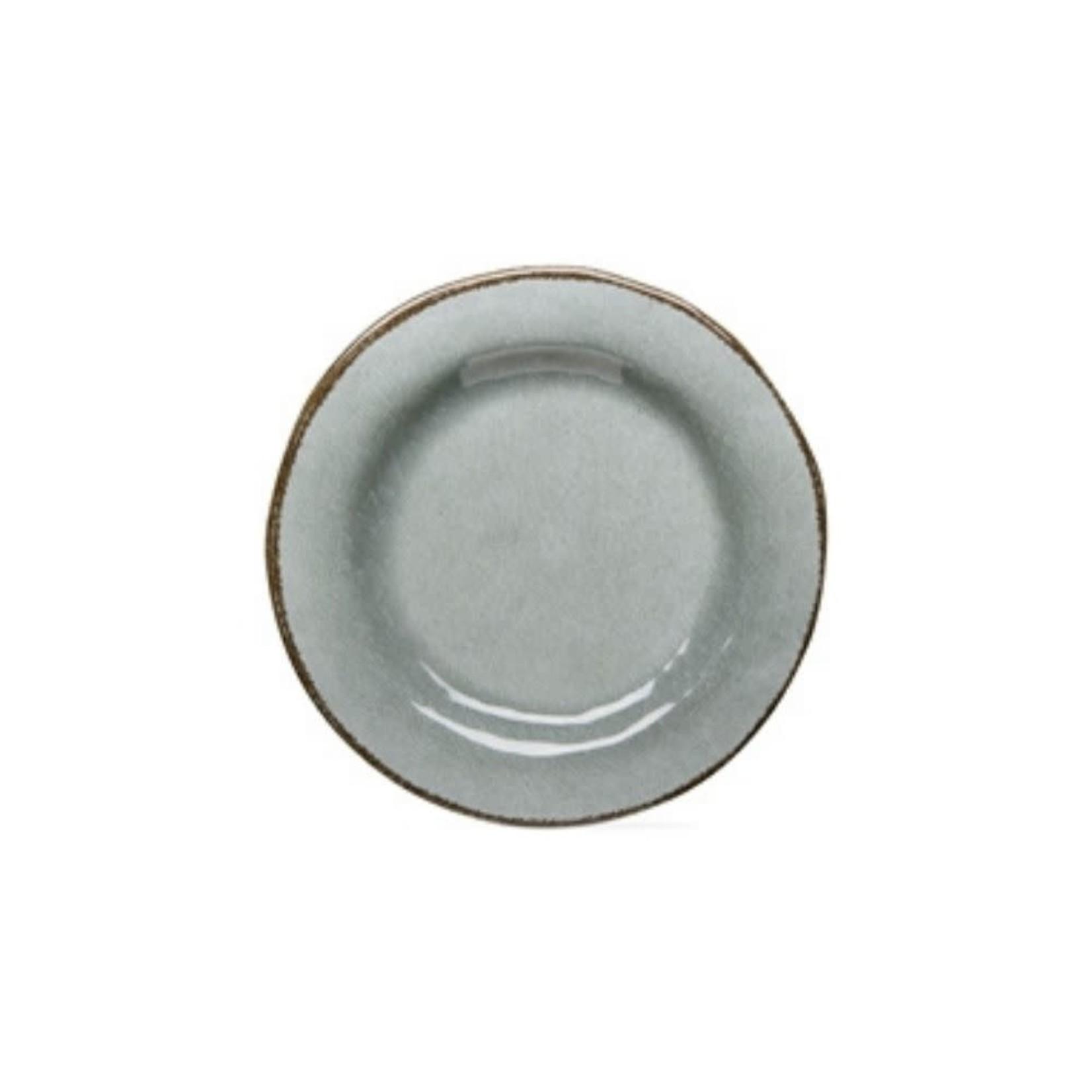 Veranda Melamine Salad Plates Set of 4, Slate Blue