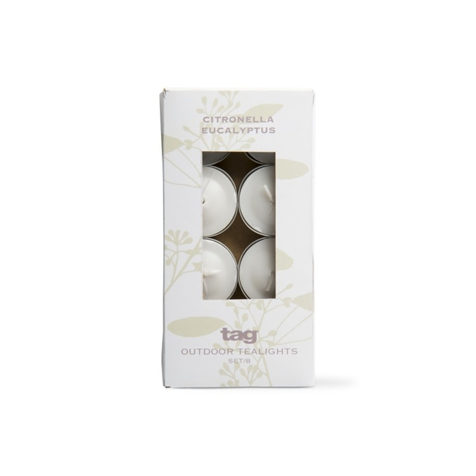 Citro Eucalyptus Tea Lights, Ivory