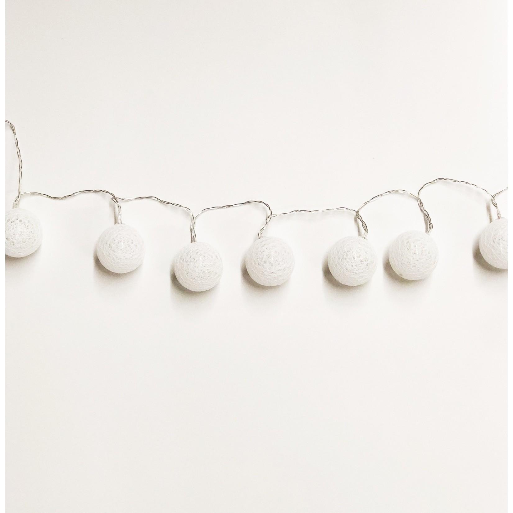 Cotton Ball LED String Lights