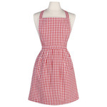 Classic Red Gingham Apron