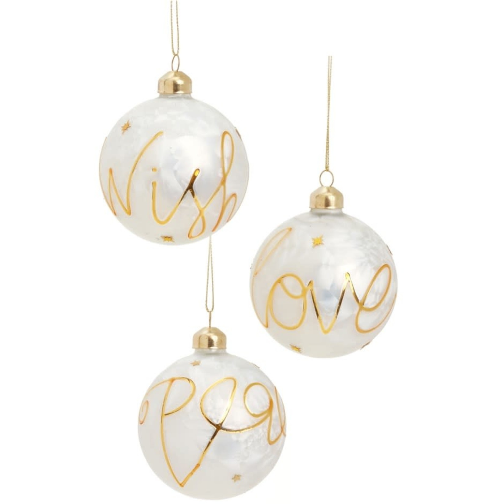 Gold Sayings Ornaments