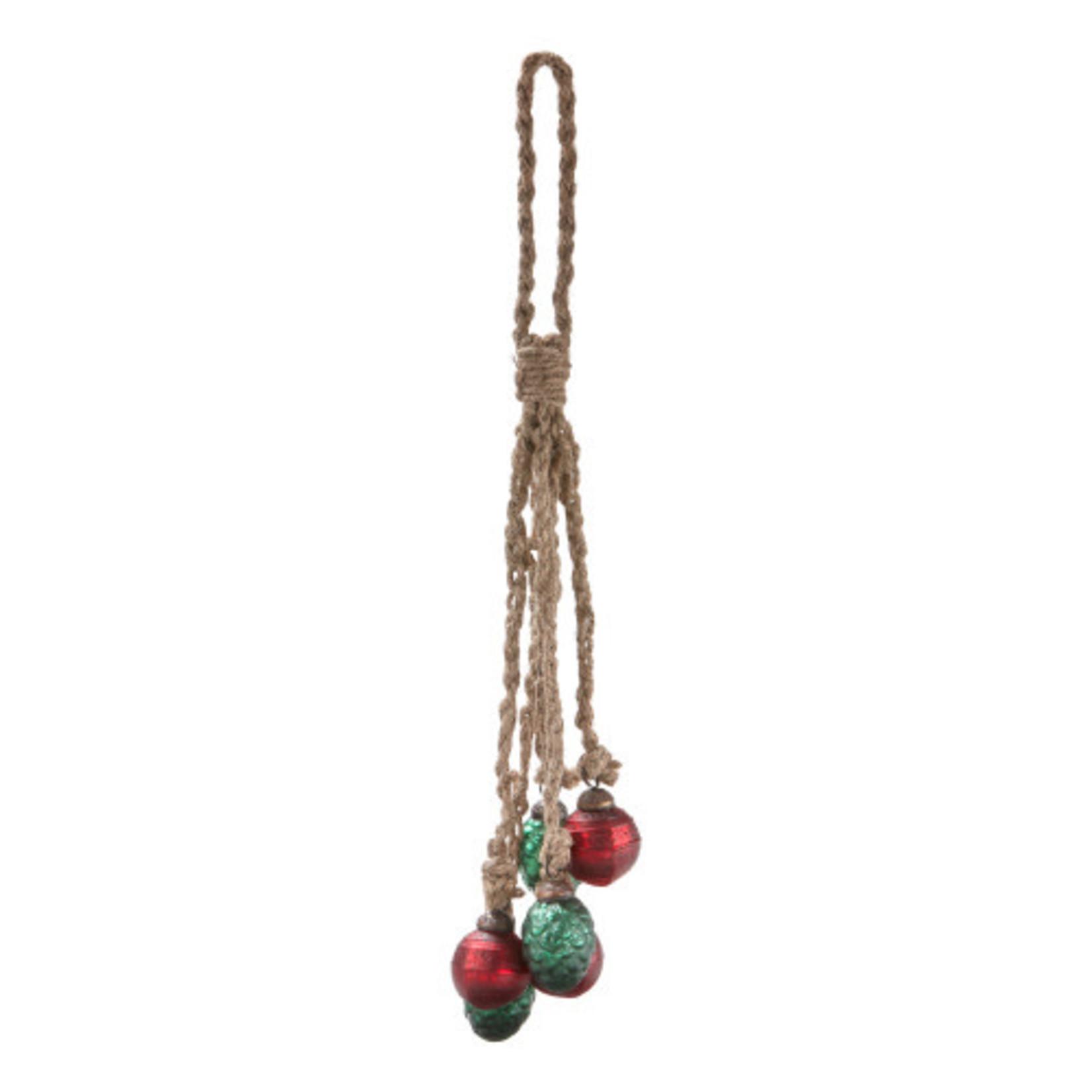 Festive Heirloom Ornament Cluster