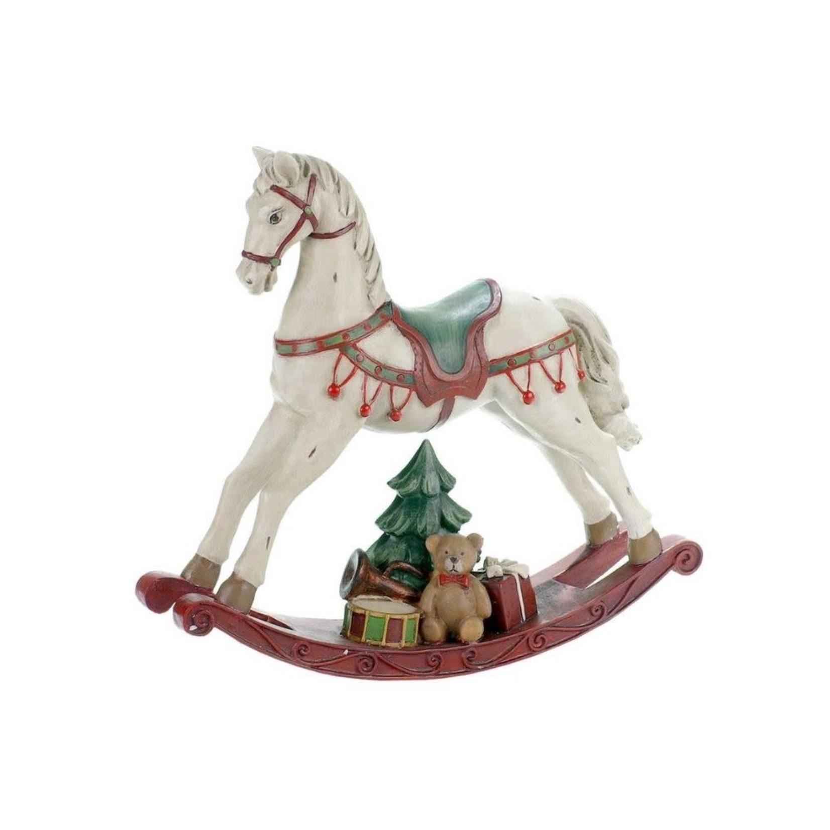 Antiqued Ivory Rocking Horse
