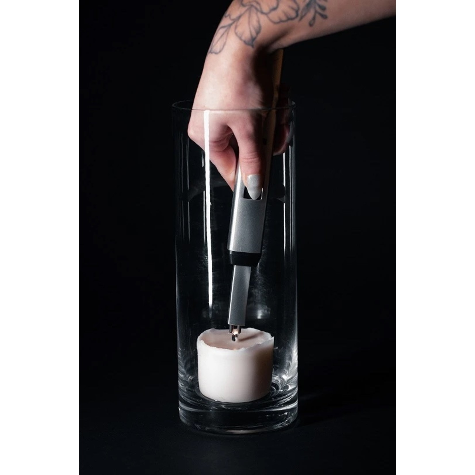 The Pitmaster Sizzle Lighter in Silver