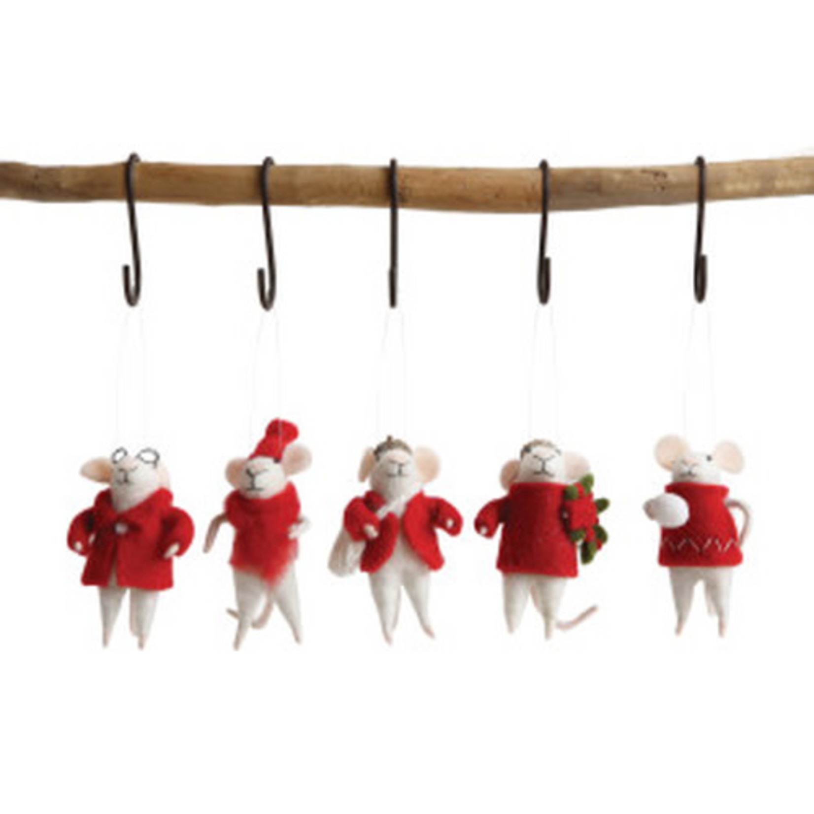 Christmas Mouse Ornaments (Multiple Styles)