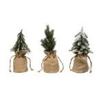 Snowy Mini Tree in Burlap Bag (Multiple Styles)