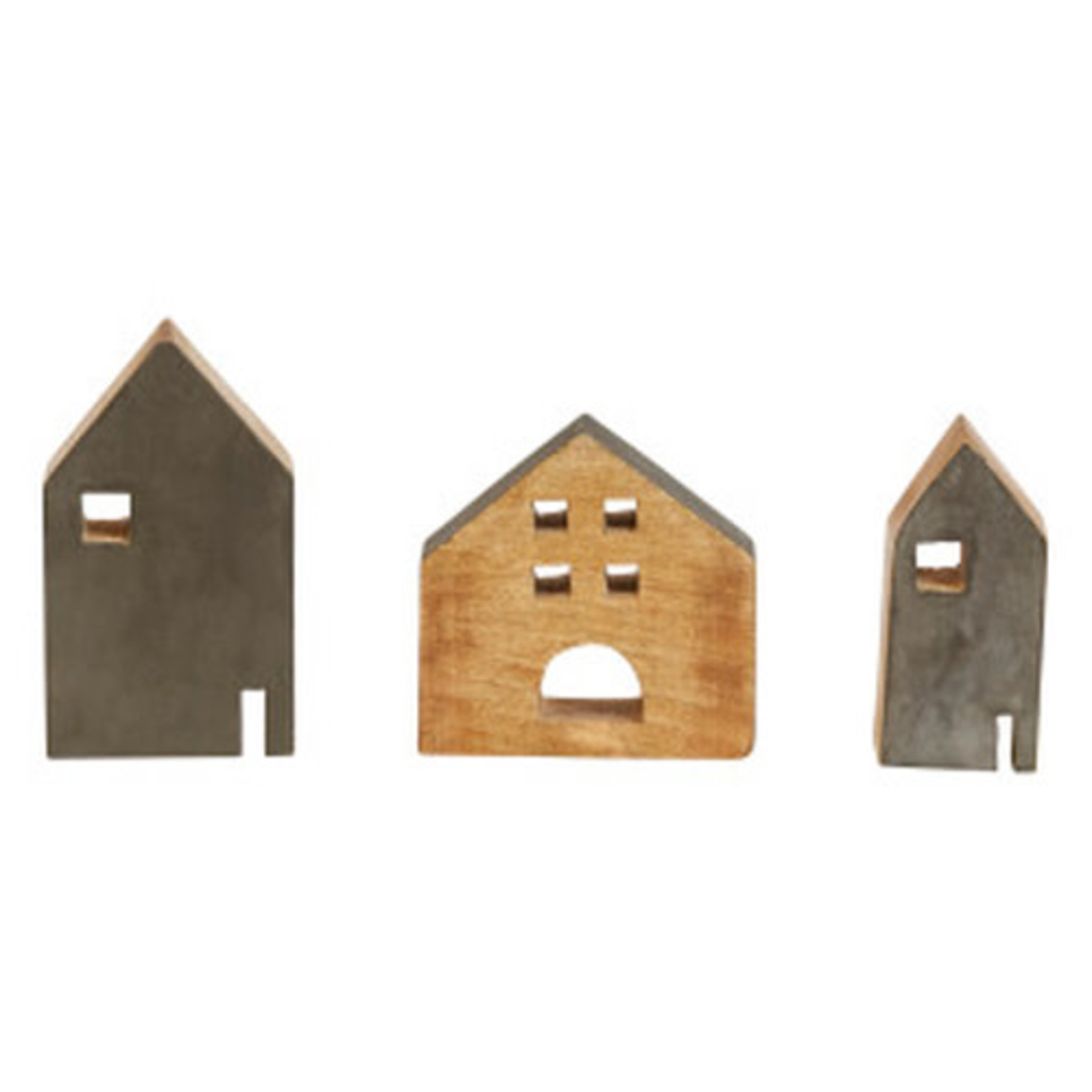 Distressed Charcoal Houses