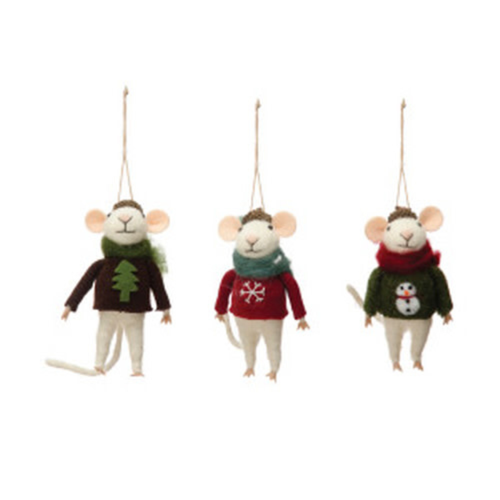 Christmas Sweater Mouse Oranments (Multiple Styles)