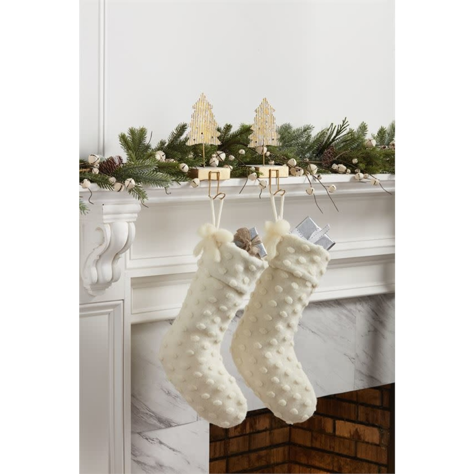 Dotted Wool Stocking