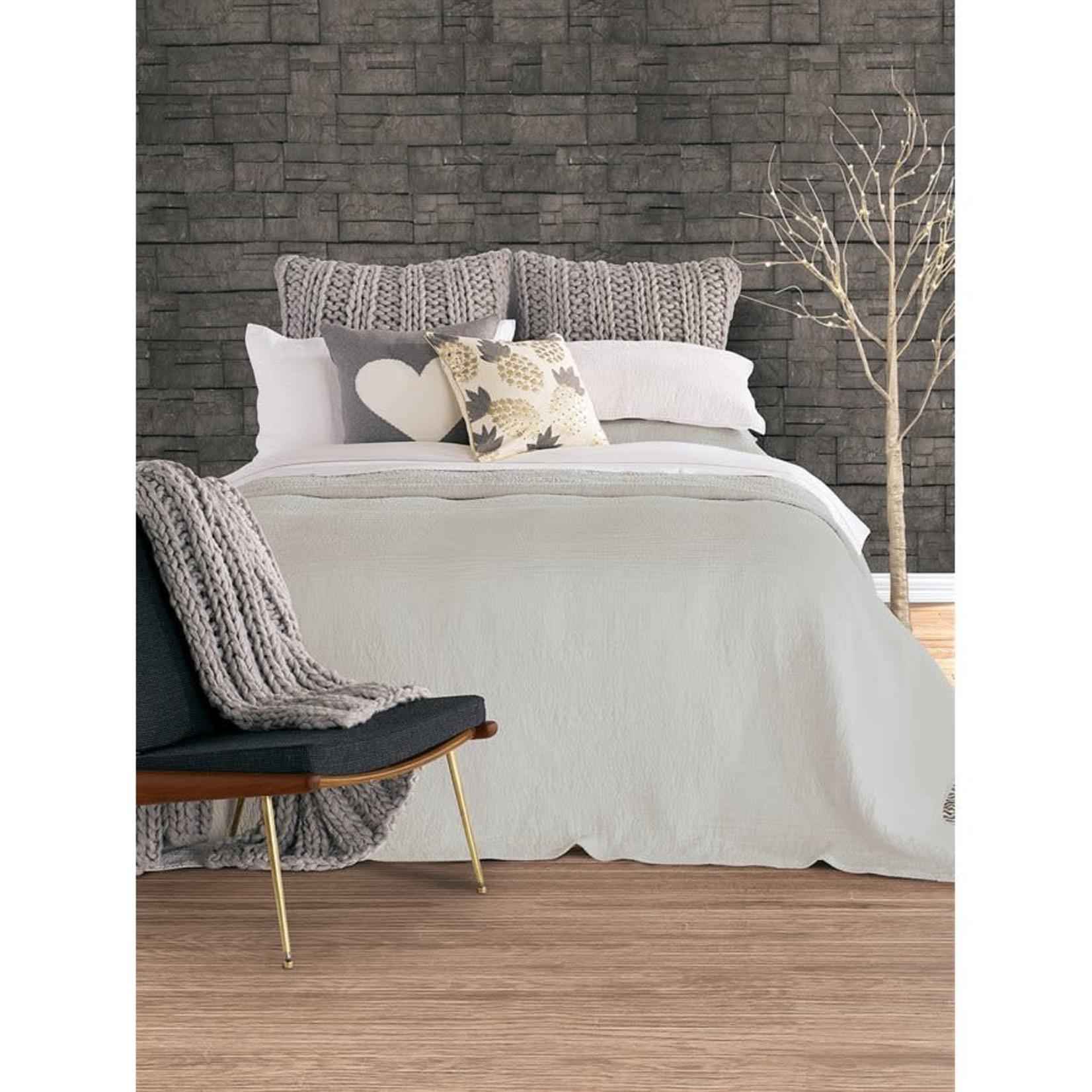 Linen Grey Queen Coverlet