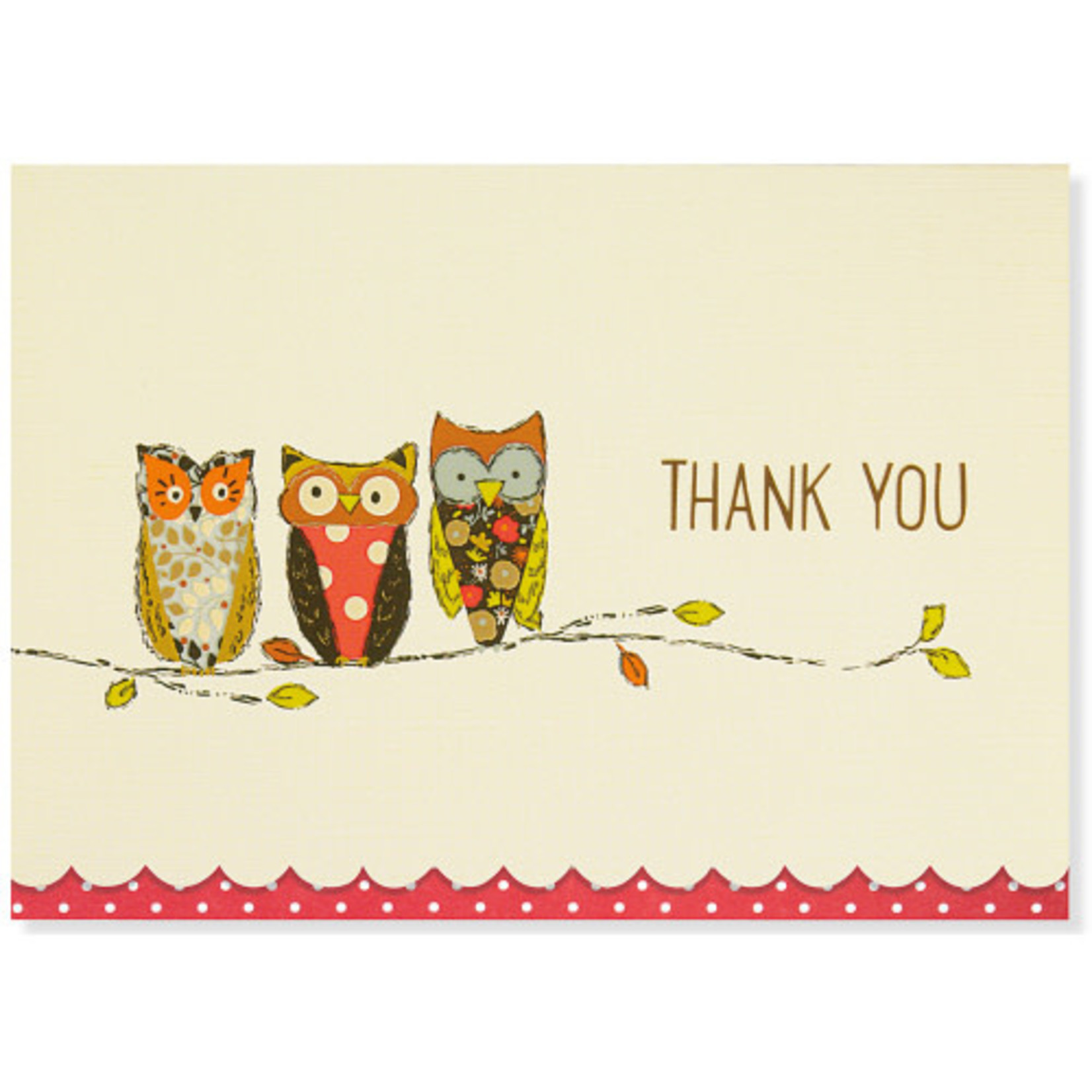 Perching Owl Thank You Note Cards