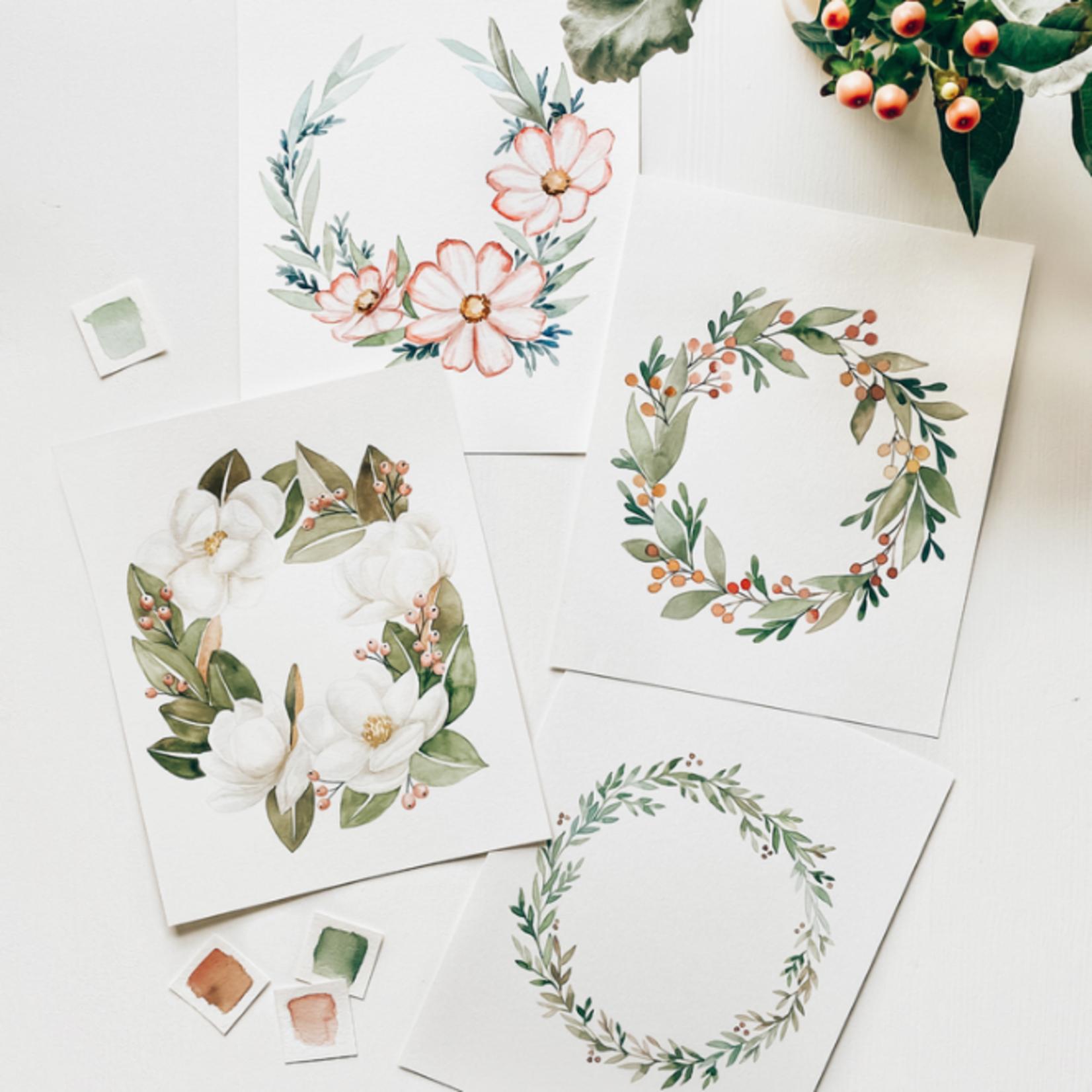 Floral Wreath Watercolour Kit