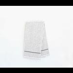 Grey Grid Terry Towel