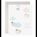 Tea Cup Babies Greeting Card