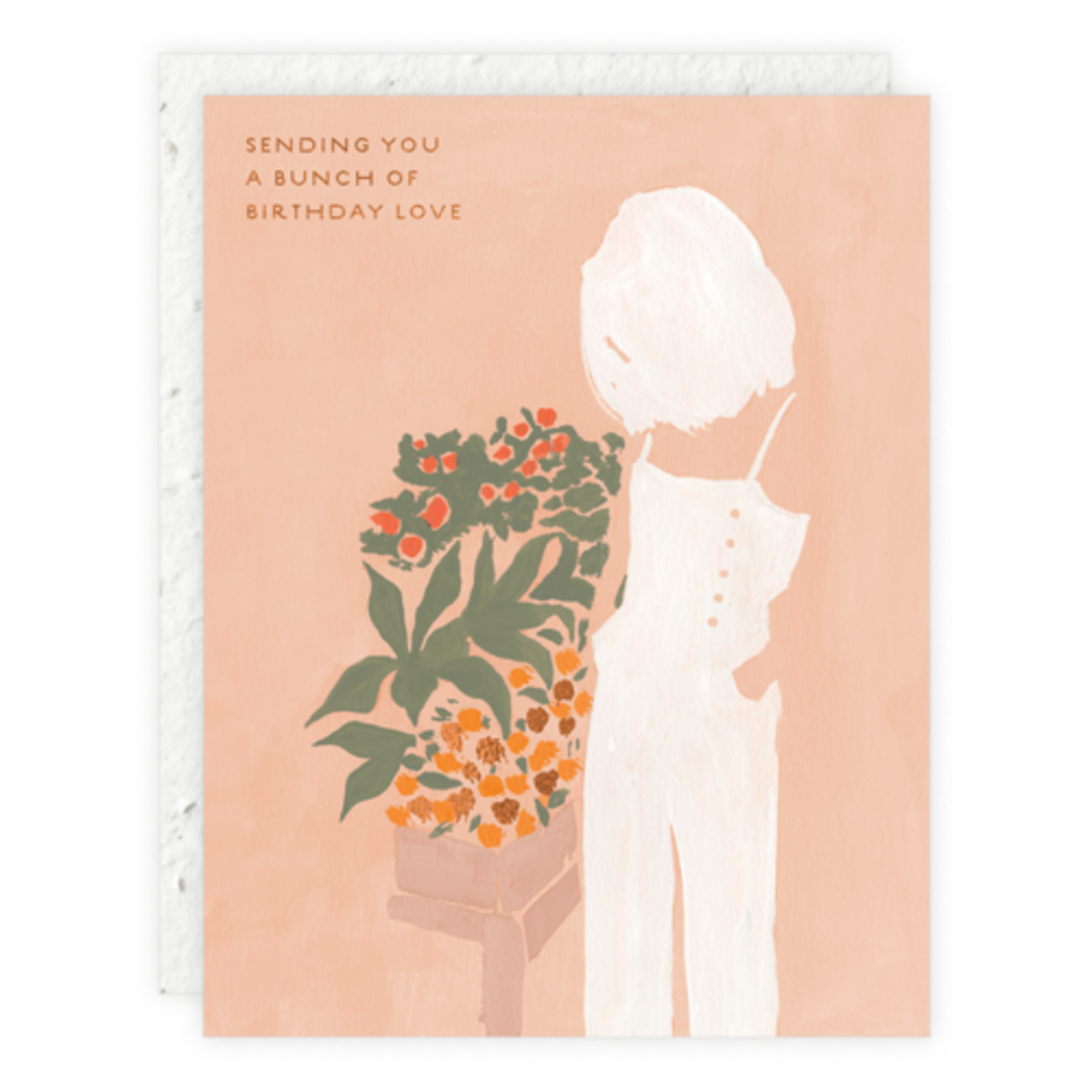 Girl And Flowers Greeting Card