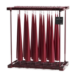 Tall Cone Candle, Wine Red