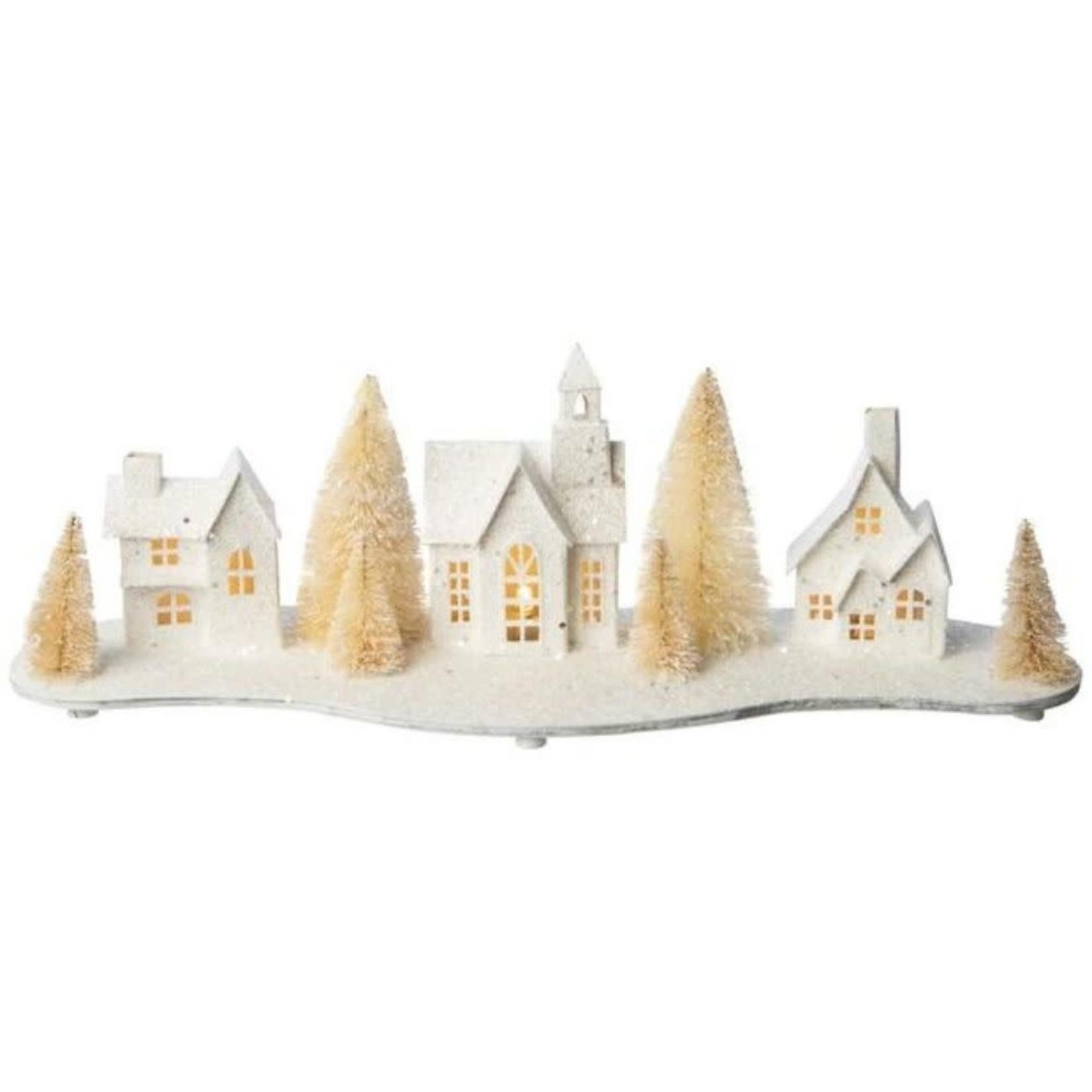 Glittered Paper Village