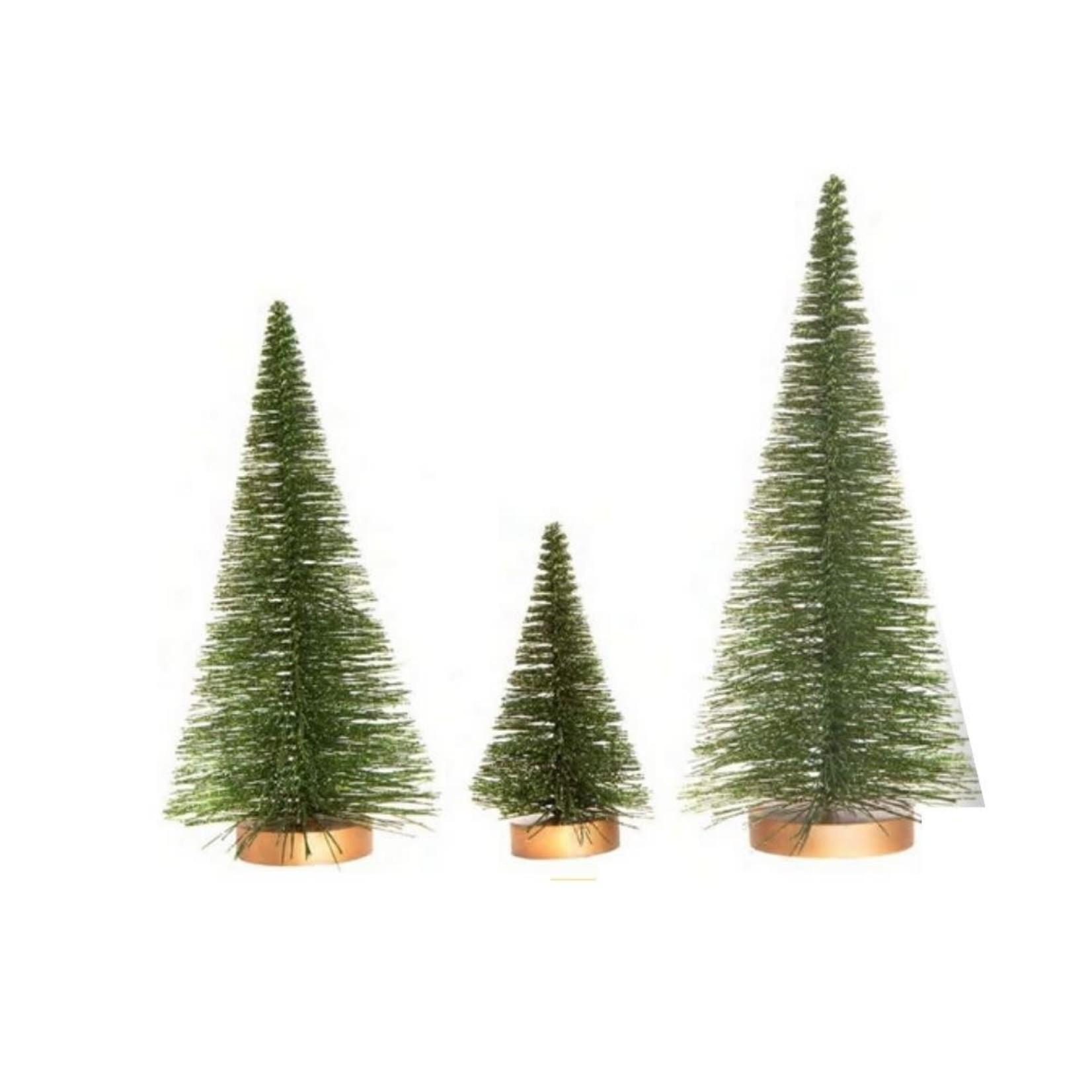 Glitter Green Bristle Trees