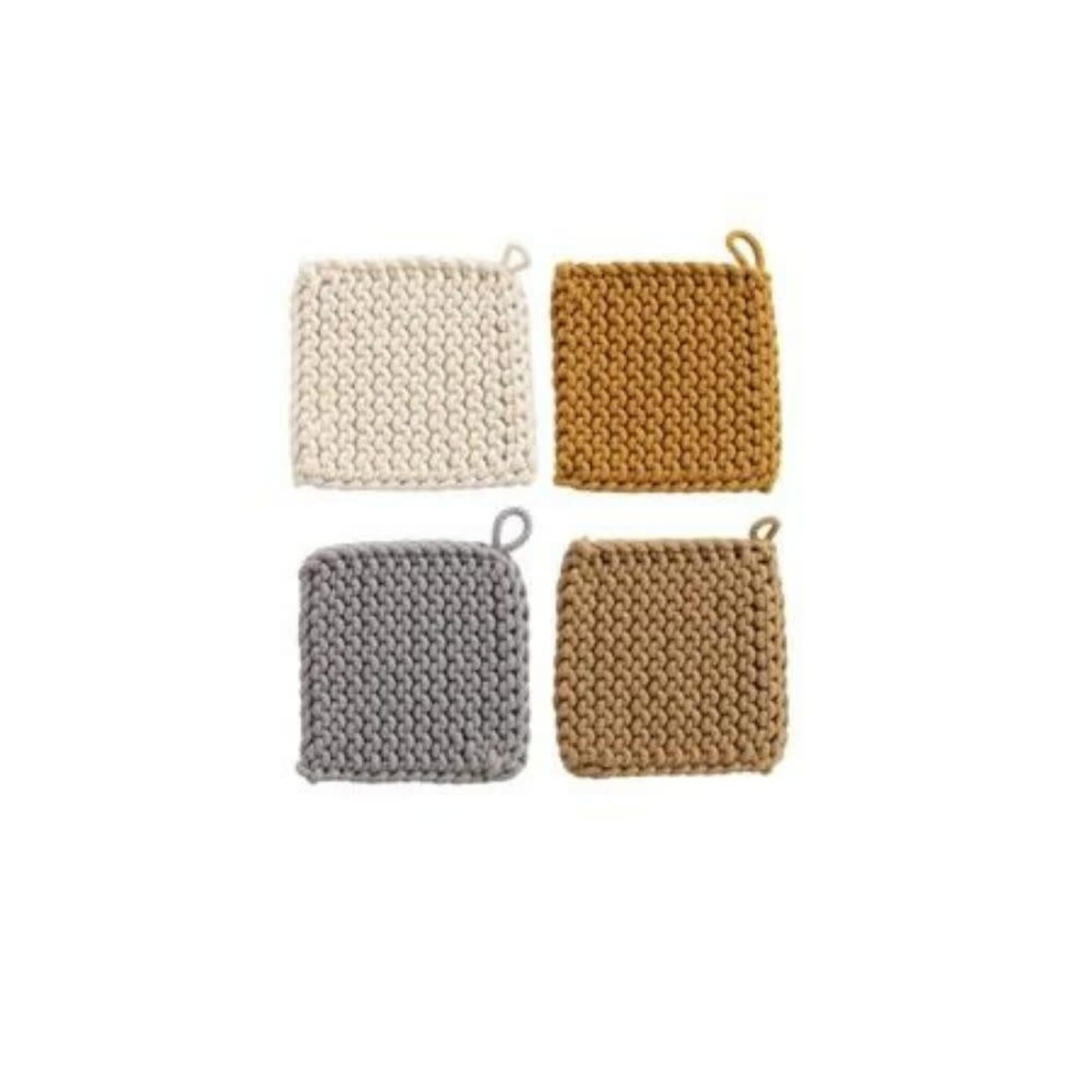 Cotton Crocheted Pot Holders (Multiple Colours)