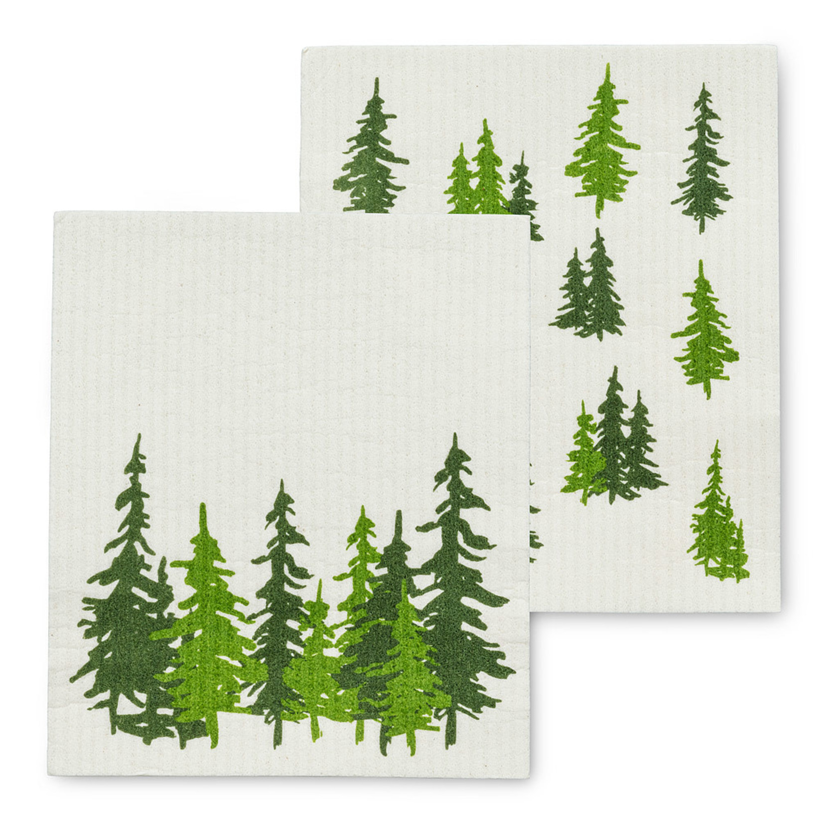 Evergreen Forest Dish Cloths Set of 2