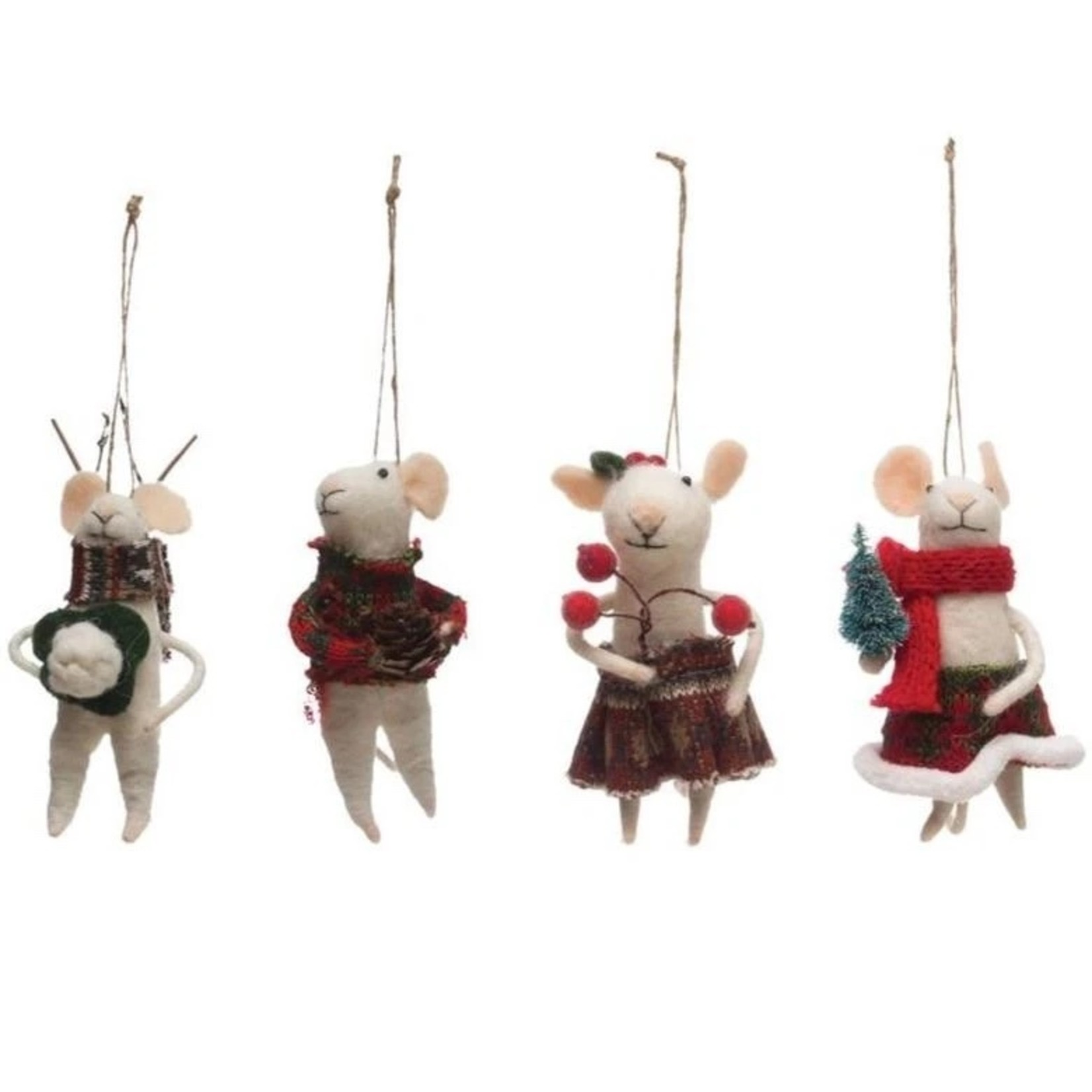 Christmas Party Mouse Ornaments (Multiple Styles)