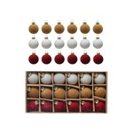 Boxed Set of Flocked Ornaments Red