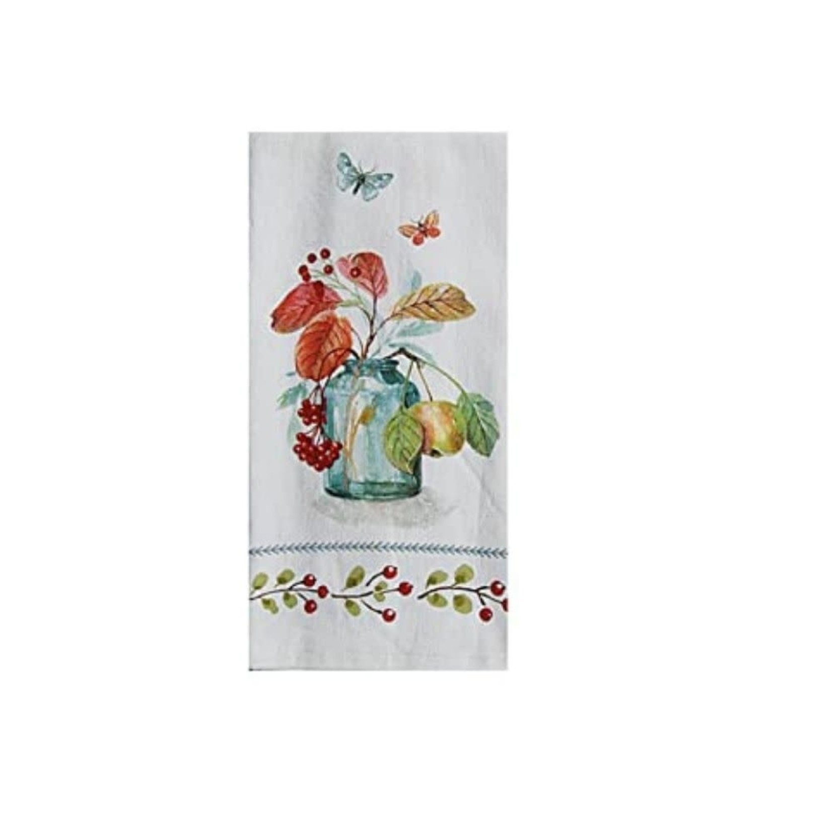 Autumn in Nature Blue Bottle Terry Towel