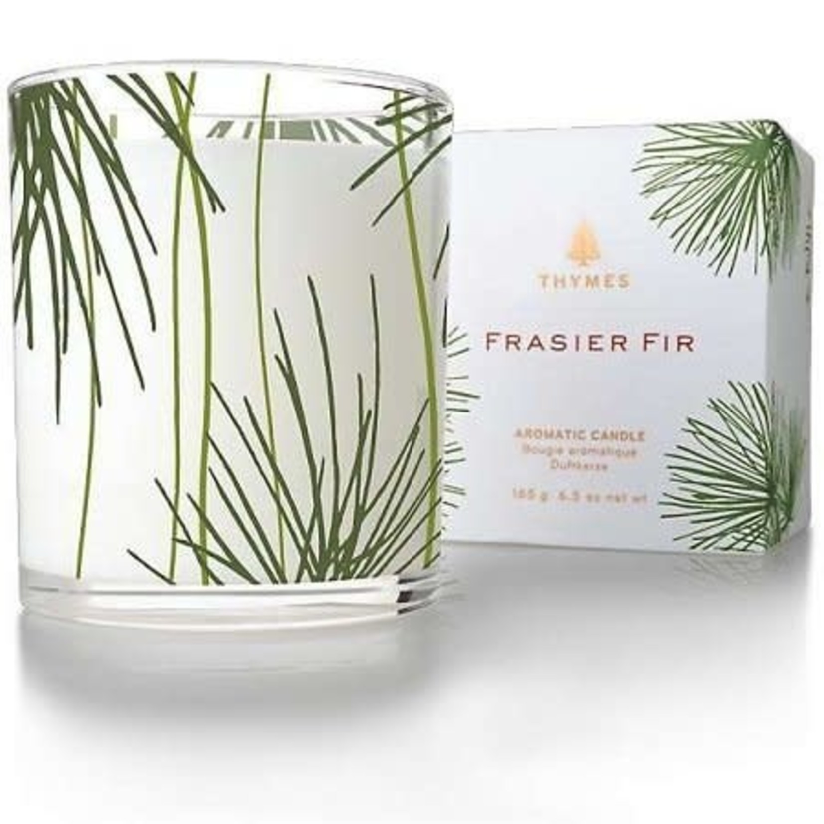Frasier Fir Poured Candle, Pine Needle Design