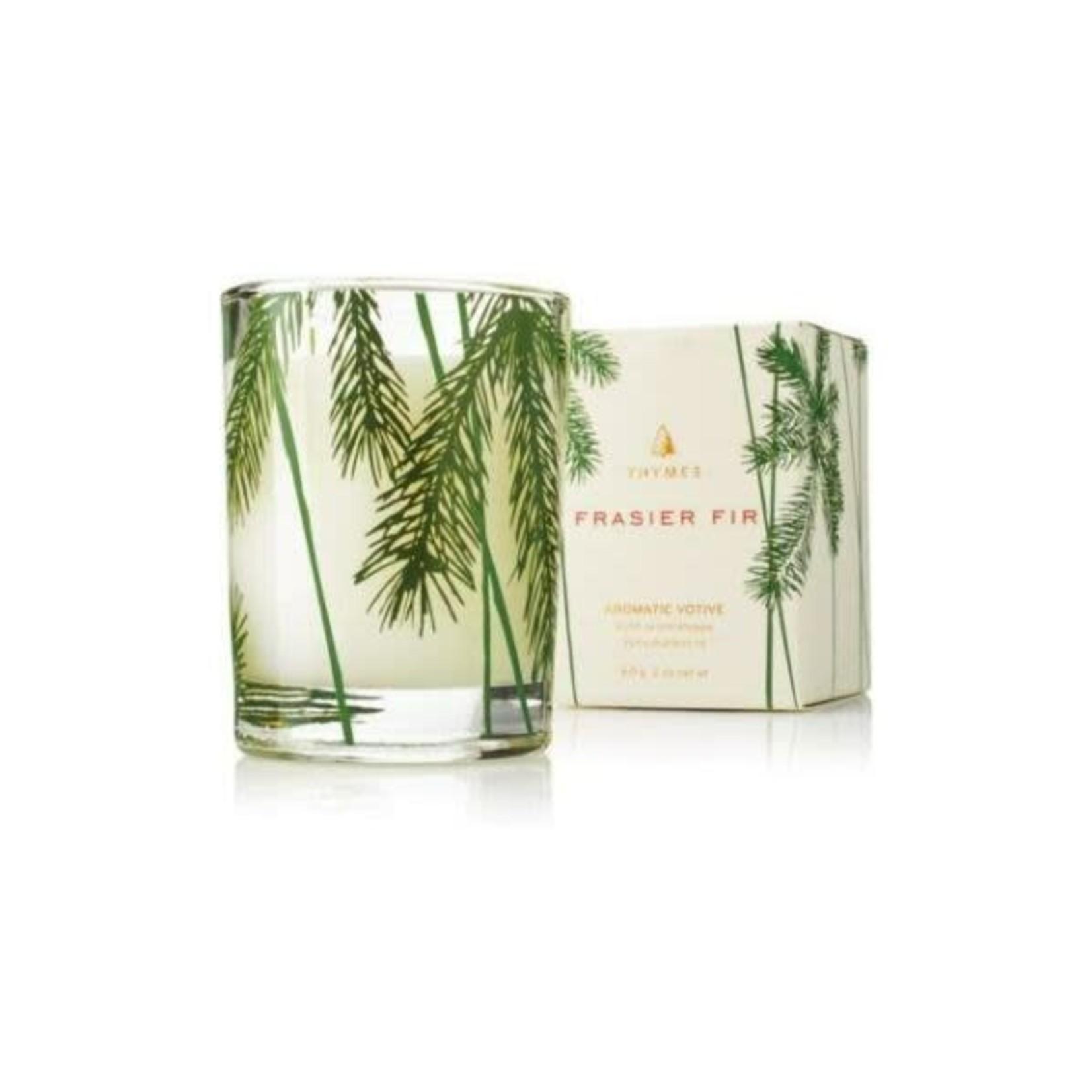 Frasier Fir Votive Candle, Pine Needle Design