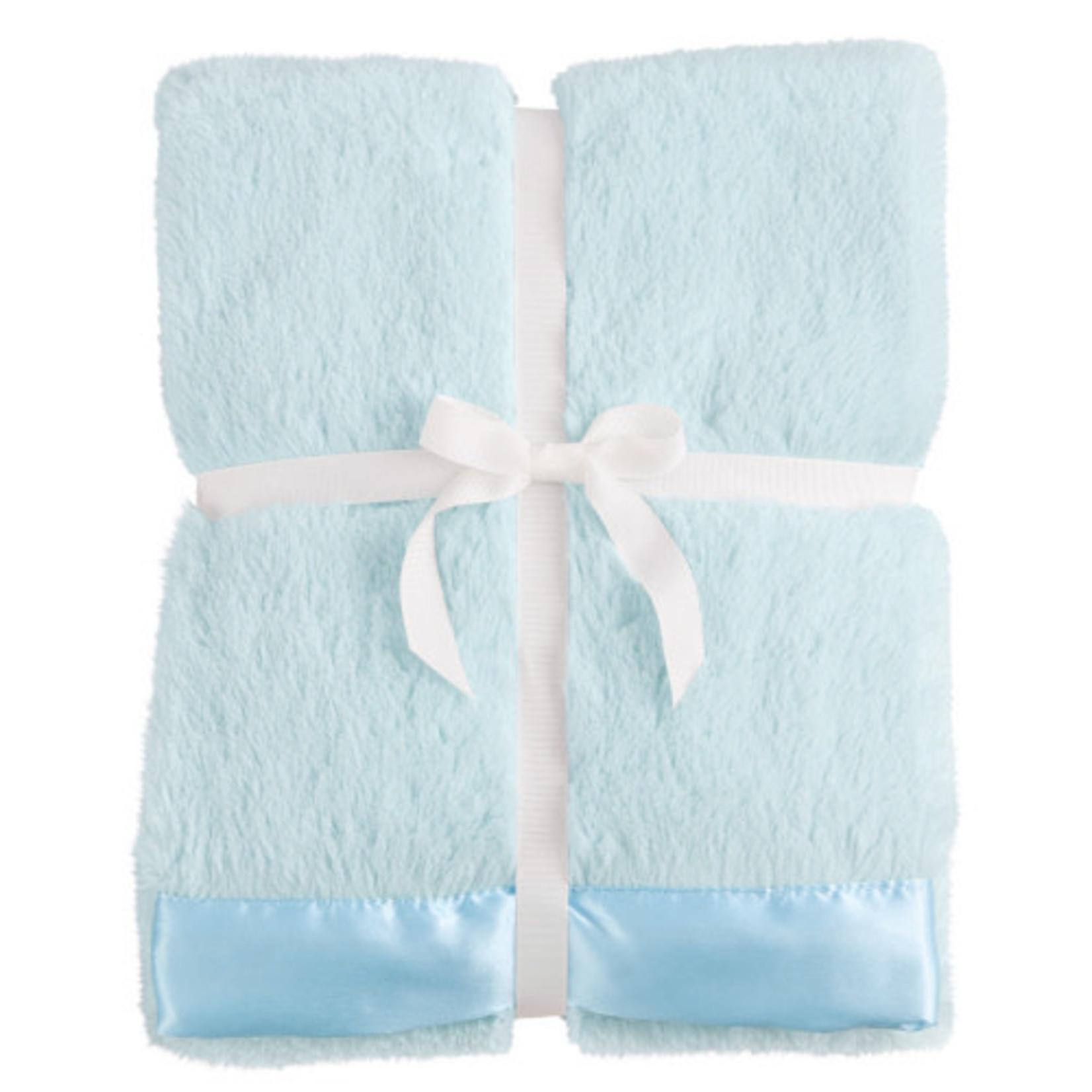 Blue Satin Trim Blanket