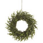Cedar Wreath with Glitter