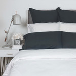 Velvet Flannel Pillow Cases in Ivory, Queen