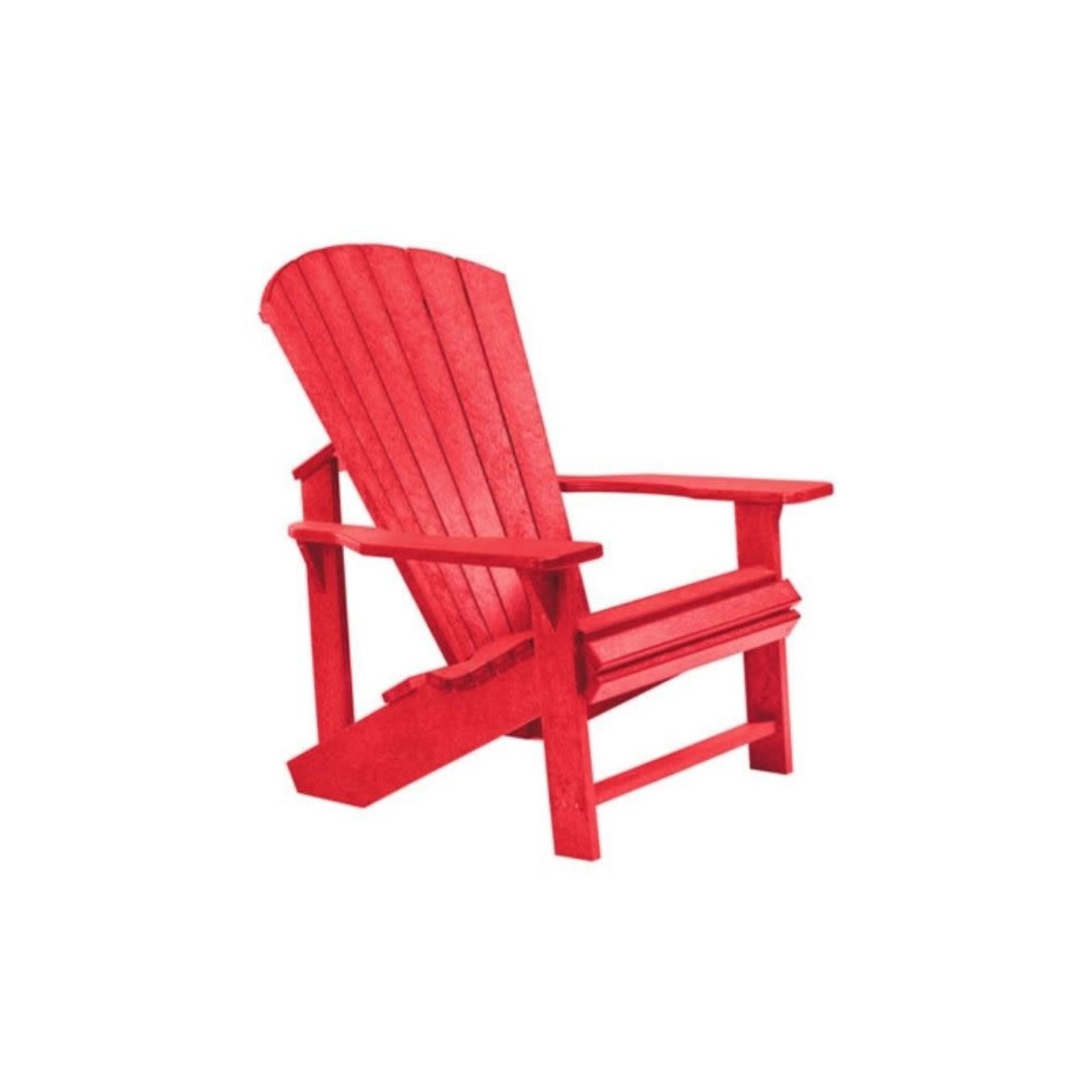 Classic Adirondack Chair Red 01