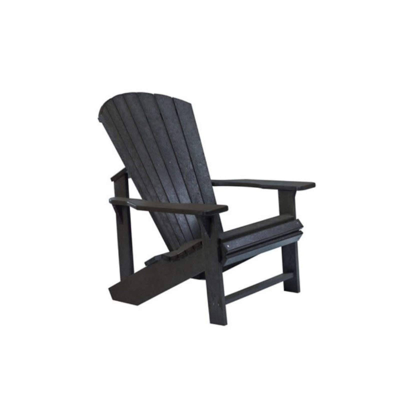 Classic Adirondack Chair Black 14