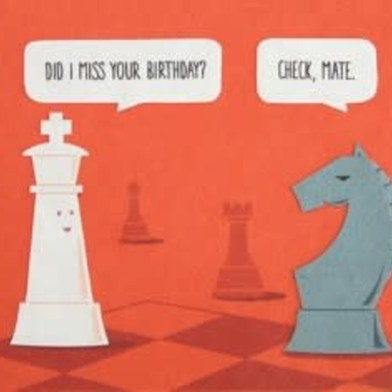 Greeting Card- Checkmate Birthday (Philippines)