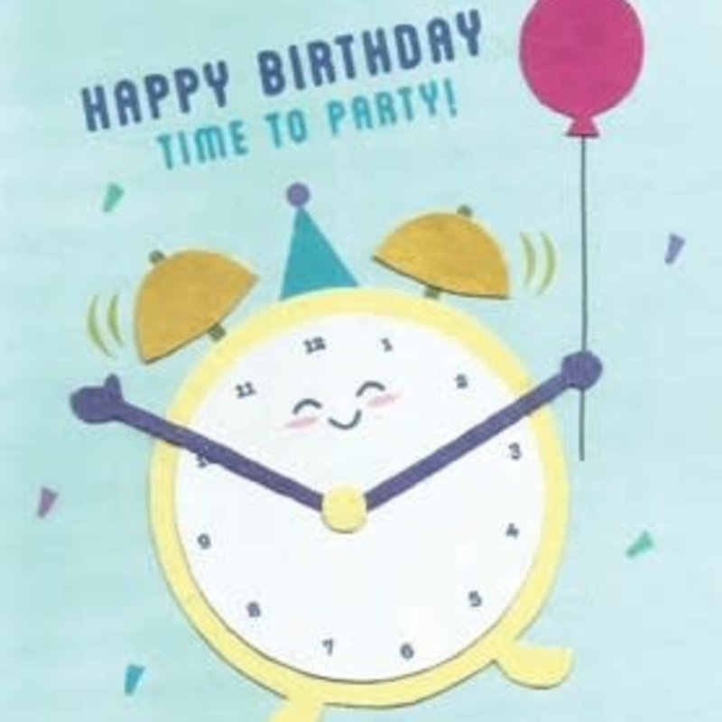Greeting Card- Time To Party Birthday (Philippines)