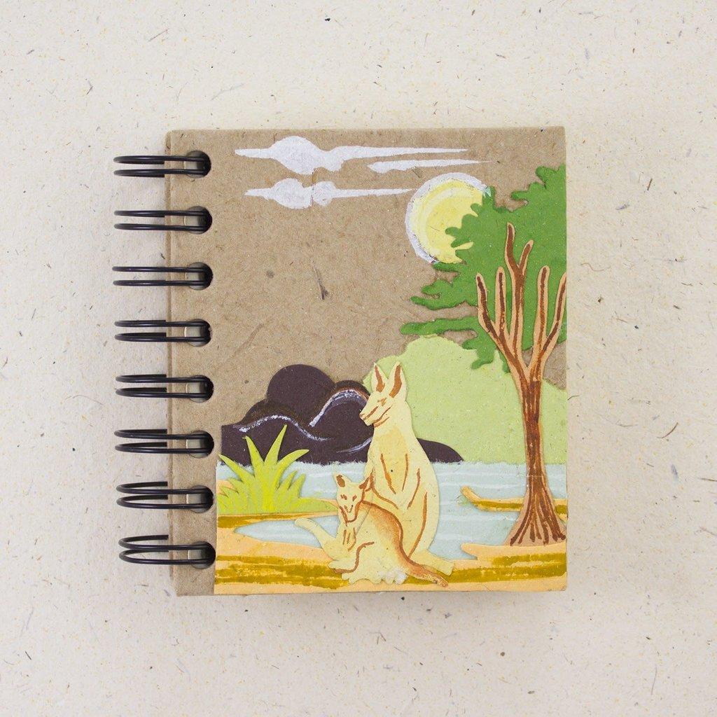 Notebook- Kangaroo & Joey-Natural Kraft-Small  (Sri Lanka)