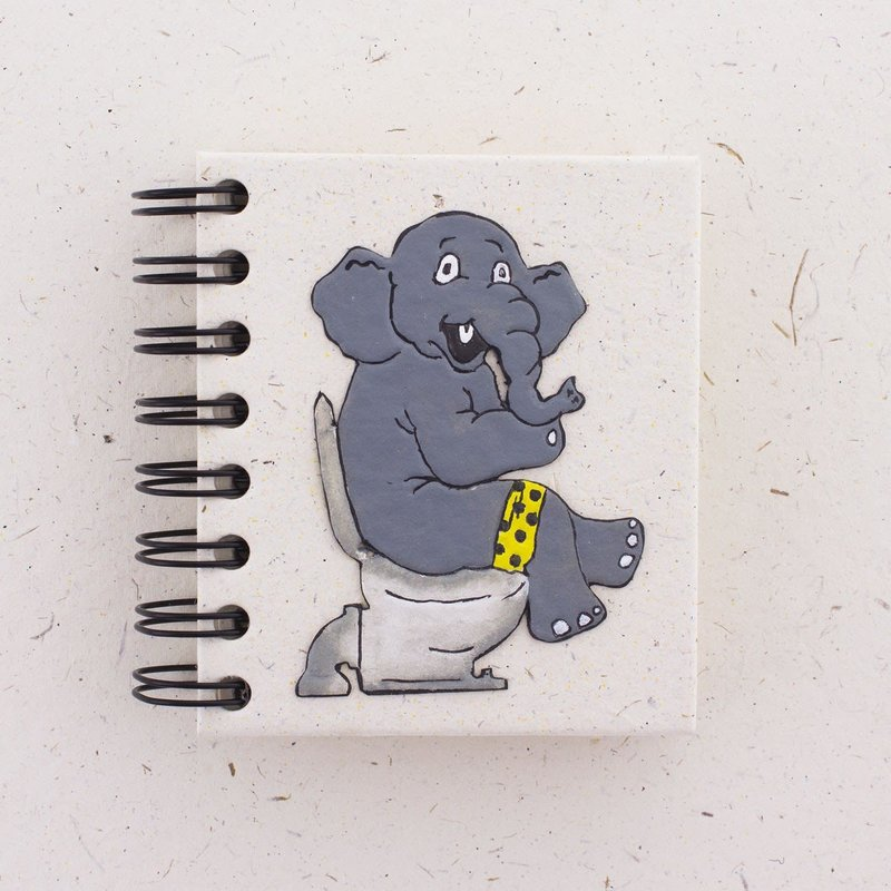 Notebook- Elephant On Toilet-Large (Sri Lanka)