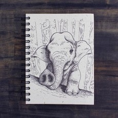 Notebook- Baby Elephant-Sketch Large (Sri Lanka)