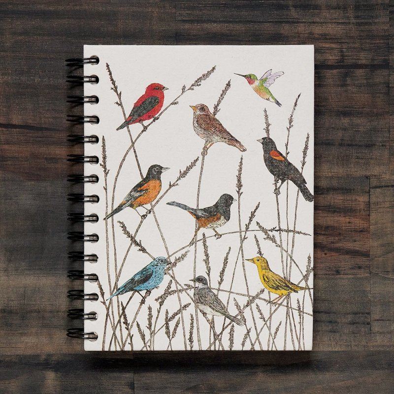 Notebook- Wild Birds-Watercolor-Sketch-Large (Sri Lanka)