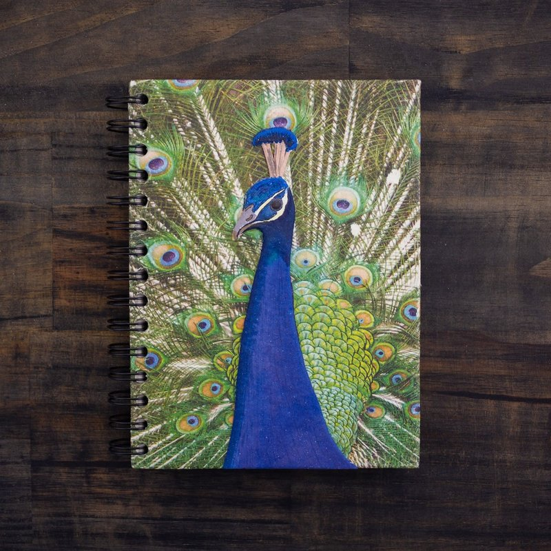 Notebook- Peacock Embellished Print-Large (Sri Lanka)