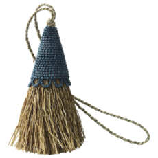 Tassel- Vetiver-Beaded-Indigo (Indonesia)