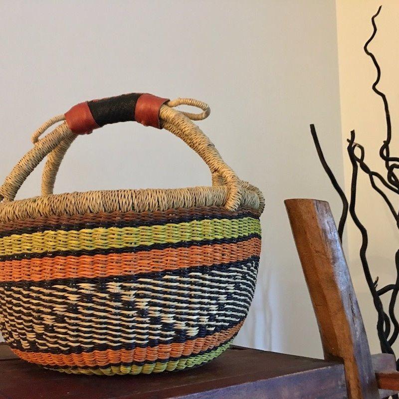 WS- Bolga Basket- Round-Small (Ghana)