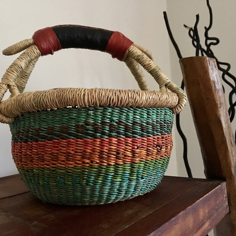 WS- Bolga Basket- Round-Extra Small (Ghana)