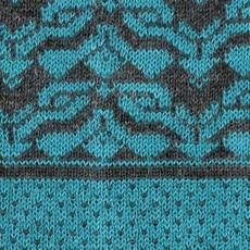 Gloves-  Escher-Teal-100% Baby Alpaca (Peru)