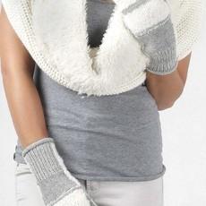 Gloves-  Patch-Ivory-100% Alpaca (Peru)